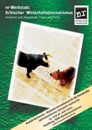nr-Werkstatt: Kritischer Wirtschaftsjournalismus - Netzwerk Recherche