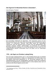 die Orgel von Christian Ludwig König - Orgelbau Klais