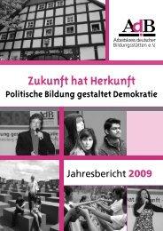 Zukunft hat Herkunft - Arbeitskreis deutscher Bildungsstätten