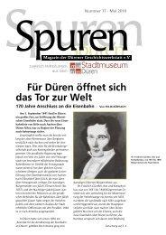 Spuren 11/2010 - Dürener Geschichtswerkstatt