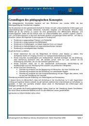 Grundlagen des pädagogischen Konzeptes - Maternus ...