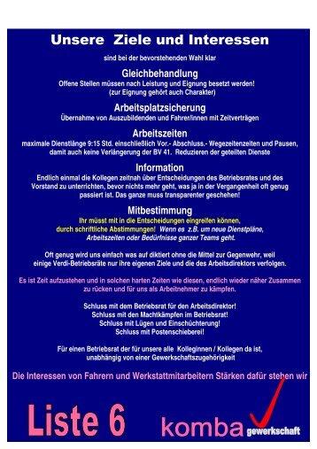 Unsere Ziele und Interessen - Komba-duesseldorf.de