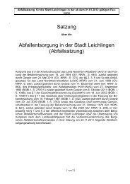 AES Leichlingen - Bergischer Abfallwirtschaftsverband