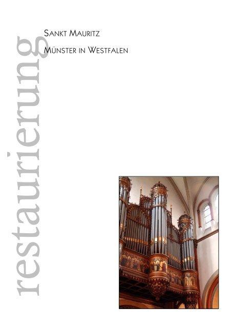 Restaurierungsbericht - Orgelbau Seifert