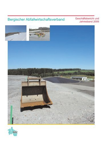 Geschäftsbericht 2009 - Bergischer Abfallwirtschaftsverband