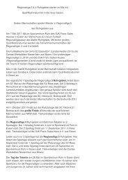 Vorbericht Regionalliga 3 Ruhrgebiet - BSNW