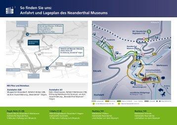 Lageplan und Anfahrtsskizze - Neanderthal Museum