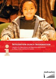 Integration durch Information - Stadt Aachen