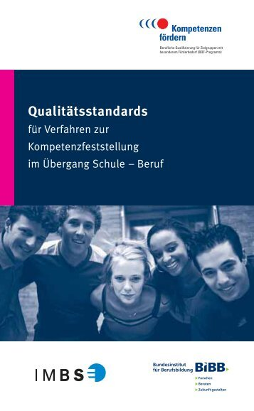 Qualitätsstandards für Verfahren zur Kompetenzfeststellung - BQF ...