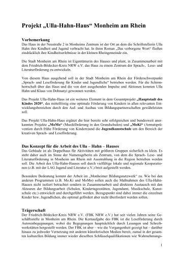 Konzept Ulla Hahn Sprachförderzentrum - Monheim am Rhein