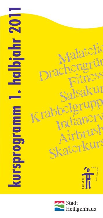 kursprogram m 1. halbjahr 20 11 - Der Club Heiligenhaus