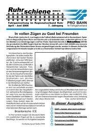 Ruhrschiene 2006#2 - Pro Bahn NRW