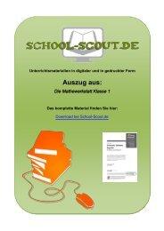 Die Mathewerkstatt Klasse 1 - School-Scout