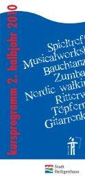 kursprogram m 2. halbjahr 20 10 - Der Club Heiligenhaus
