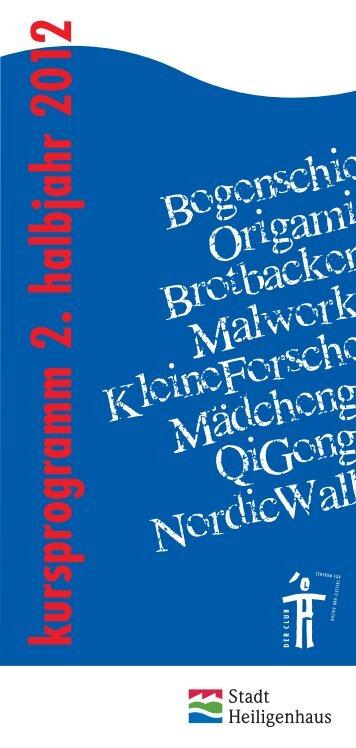 kursprogram m 2. halbjahr 20 12 - Der Club Heiligenhaus