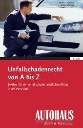 Unfallschadenrecht von A bis Z - Springer Automotive Shop