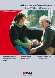 Wir verbinden Generationen« Ihre RVM im Münsterland