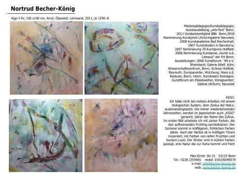 Katalog - Rosemarie Steinbach-Fuß
