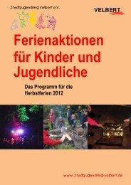 Ferienaktionen für Kinder und Jugendliche - Stadtjugendring Velbert ...