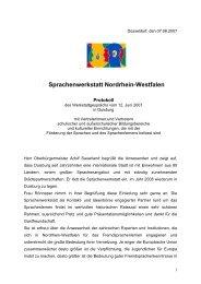 Protokoll des Jahrestreffens 2007 der Sprachenwerkstatt Nordrhein ...