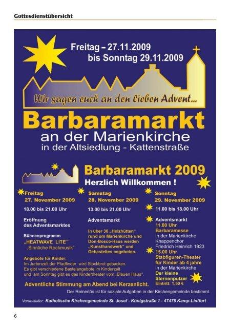 Pfarrbrief - Katholische Pfarrgemeinde St. Josef - Kamp-Lintfort