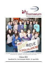 Rundbrief 3 Ostern 2011 2 - Gymnasium Thomaeum Kempen