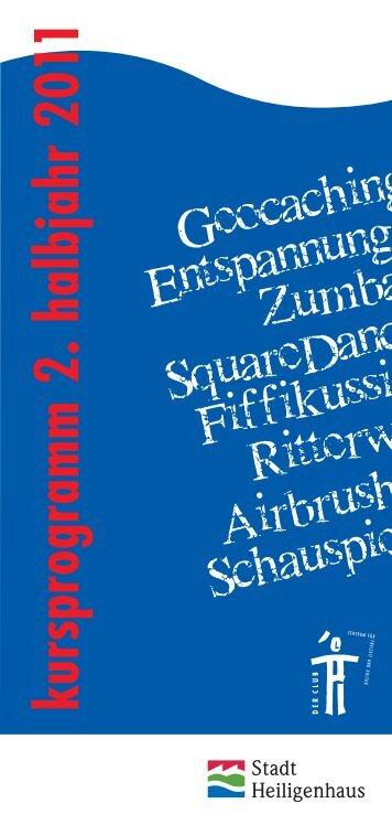 kursprogram m 2. halbjahr 20 11 - Der Club Heiligenhaus