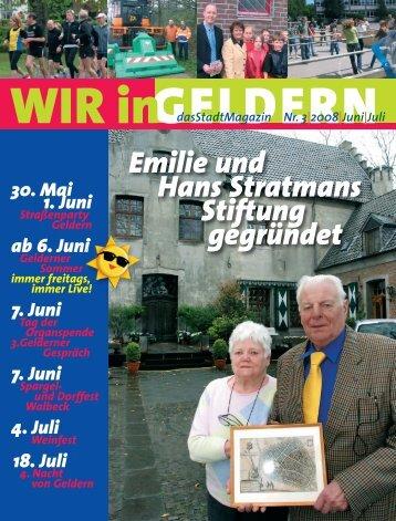 Emilie und Hans Stratmans Stiftung gegründet - WIR in Geldern