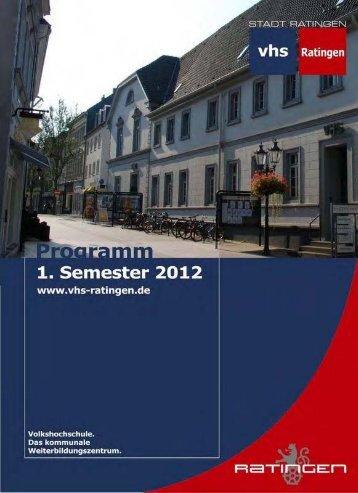 0 - EDV, Beruf, Schulabschlüsse - Volkshochschule Ratingen