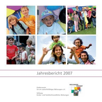 Jahresbericht 2007 - Stiftung kinder- und familienfreundliches ...