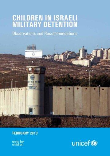 Children in israeli Military detention