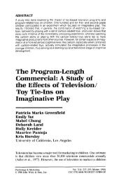The program-length commercial: A study of the effects of ... - UCLA