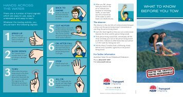 wHat to Know BeFore YoU tow - NSW Maritime