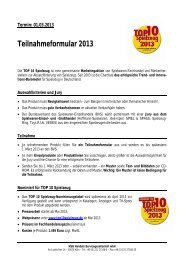 Teilnahmeformular 2013 - TOP10 Spielzeug - BVT