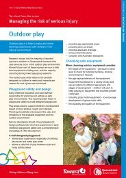 Outdoor play - Queensland Government