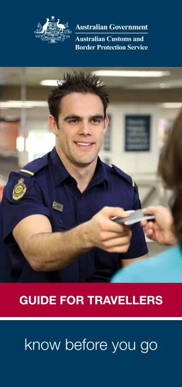 know before you go - Australian Customs Service