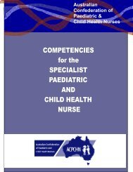 Competencies for the Specialist Paediatric and Child ... - accypn