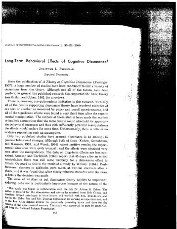 cog dissonance essay Attitude change & cognitive dissonance experiments 1 hovland and wies (1952) p's read message and given the following source information high credibility source = robert  – ask participants to write an essay ½ of p's (college students) asked to write essay that argues for a tuition increase ½ asked to.