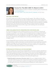 Trends For The B2C CMo To Watch in 2013