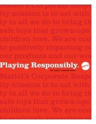 2009 Global Citizenship Report - Mattel