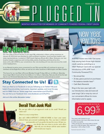 New Year, New Toys It's Here! - Delaware Power and Light Federal ...