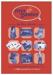 Page Toys and Games: An Oral History - University of Leicester