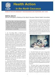 Health Action − in the North Caucasus - ReliefWeb