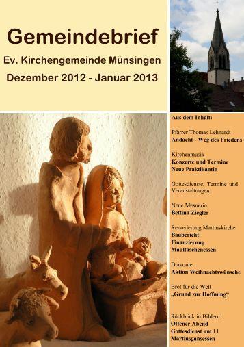 Gemeindebrief Dezember 2012 - Evangelische Kirchengemeinde ...