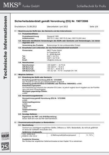 sdb glossprofi 1905 2012 de.pdf - MKS Funke GmbH