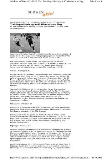 Seite 1 von 3 Alb Bote - (2006-10-23 00:00:00) - Trailfingen/Seeburg ...