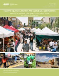 CREATING EQUITABLE, HEALTHY, AND SUSTAINABLE COMMUNITIES: