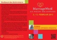 Marriage Week 2013