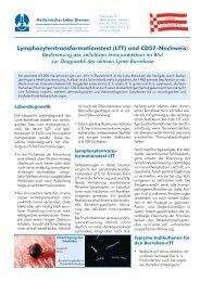 LTT und CD57-Nachweis zur Diagnostik der Lyme - Medizinisches ...