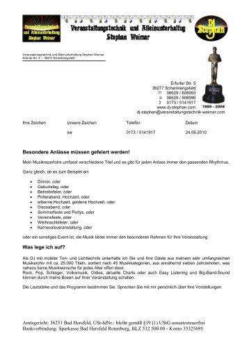 Amtsgericht: 36251 Bad Hersfeld, USt-IdNr.: bleibt gemäß §19 (1 ...